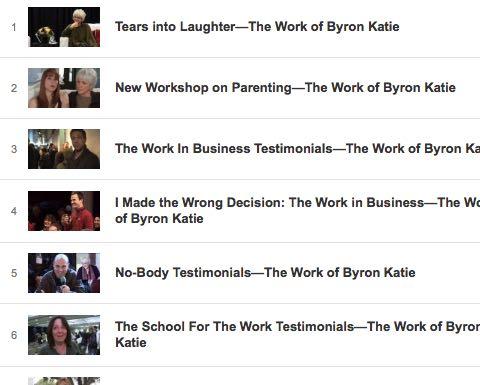 Video The Work Byron Katie Veranstaltungen