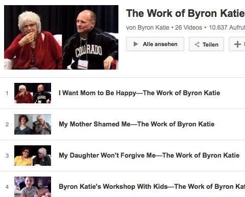 Video The Work Byron Katie Eltern