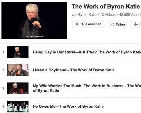 Video The Work Byron Katie Beziehung